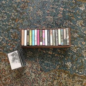 Bundle 18 Cassette 🎶 Tapes & Vintage Wooden Crate